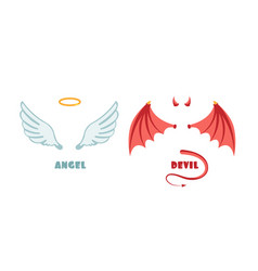 Nobody angel and devil suit innocent and mischief vector
