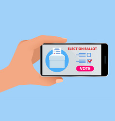 online voting and election concept e-voting vector image