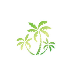Palm tree nature logo vector