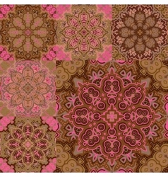 Patchwork style pattern Seamless tile background vector