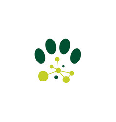 paw tech connection logo icon vector image