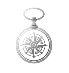 pocket watch windrose dots vector image