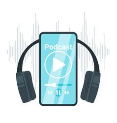 Podcast flat vector