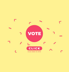 presidential election online voting banner design vector image