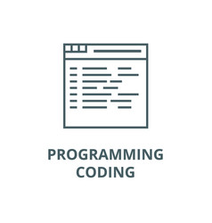 programmingcoding line icon linear vector image