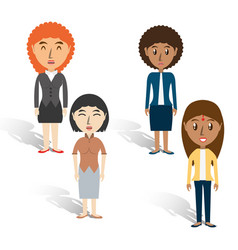 set avatars women of different diversity over vector image