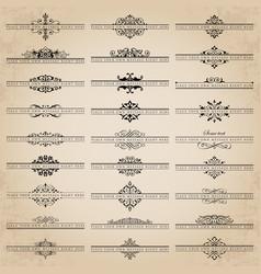 Set of unique ornate headpieces vector