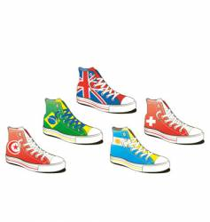 shoe with flag vector image