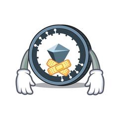 Silent kucoin shares mascot cartoon vector