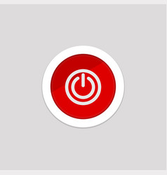 Simple power button icon mobile phone element vector