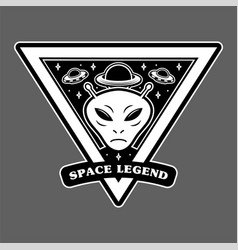 space alien print vector image