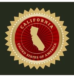 Star label california vector