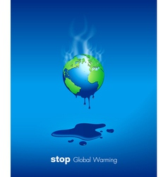 Stop Global Warming Design vector image