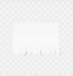 Tear-off paper template advertisement template vector