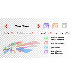 template designer business cards vector image