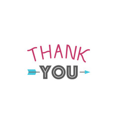 thank you gratitude feeling emotions text vector image