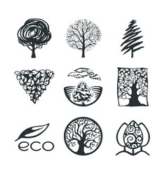 Tree logo collection vector