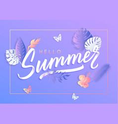 ultra violet summer typography design vector image