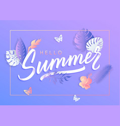 ultra violet summer typography design with vector image