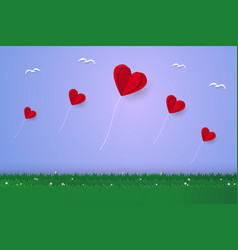 valentines day heart balloons vector image