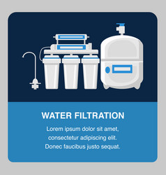 water filtration website banner template vector image