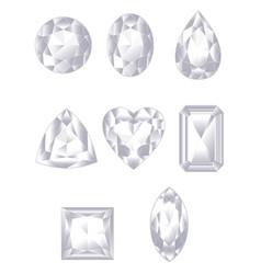 white diamond vector image
