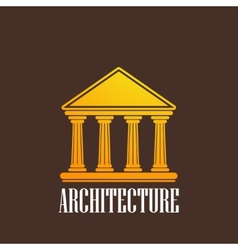 With a building icon vector
