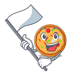 with flag pizza mascot cartoon style vector image