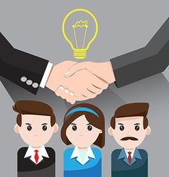 Business idea for teamwork success vector image vector image