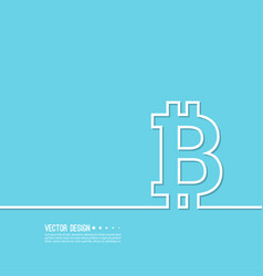 crypto currency bitcoin internet vector image