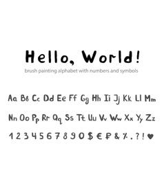 Doodle font vector image