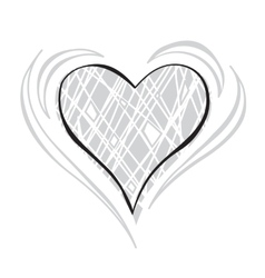 Gray scale Heart vector image vector image