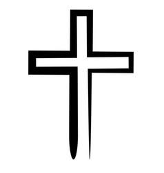 hand drawn black grunge cross icon vector image