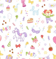 Kids party seamless pattern vector image
