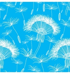 Seamless background with overblown dandelion vector image