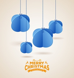 Stylized christmas balls background vector image