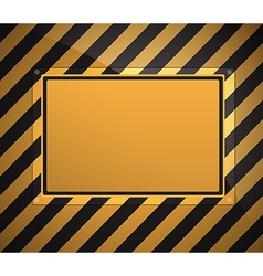 warning sign background vector image vector image