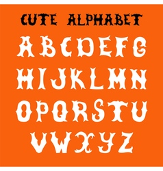 Hand drawn font Sketch style alphabet vector image vector image