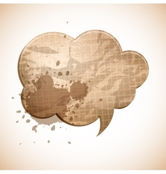 Paper chat cloud vector image vector image