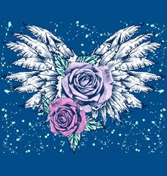 ROSES WITH WINGS vector image