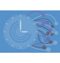 watch texture Concept vector image vector image
