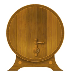 Ancient oak barrel vector