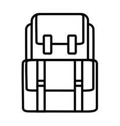 backback outline icon vector image