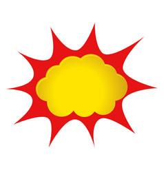 comic splash vector image vector image