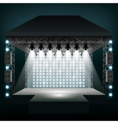 Concert stage with spotlights vector image vector image