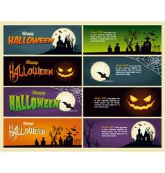 happy halloween set banner vector image