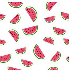 seamless background with watermelon slices vector image