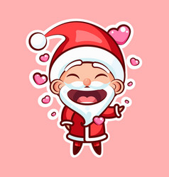 sticker emoji emoticon emotion isolated vector image vector image