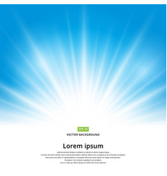 sun light effect on blue background vector image vector image