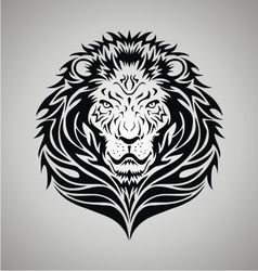 Tribal Lion Face vector image